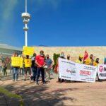 Geacam se concentra ante la sede de la Consejería de Desarrollo Sostenible en Toledo