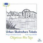 Urban Sketchers Toledo, dibujar en Safont para reivindicar el río Tajo a su paso por la ciudad