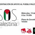 Toledo acoge este miércoles una concentración contra los ataques a Palestina