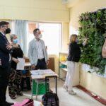 El Colegio 'Gregorio Marañón' de Toledo, galardonado con el 'Supercirculares 2021' por su jardín vertical en el aula