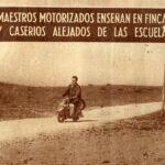 Profesorado motorizado, la opción de la Diputación de Toledo para llevar la enseñanza a todos los rincones en los años 60