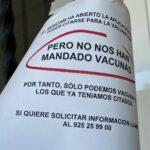 """Un centro de salud de Toledo: """"El Sescam ha abierto la aplicación para poder citarse pero no nos han mandado vacunas"""""""
