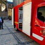 Los bomberos de Toledo ya tienen su primer furgón eléctrico y dispondrán de un vehículo especial para el Casco