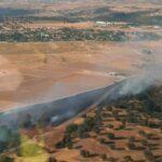 Declaran un incendio forestal en Escalona