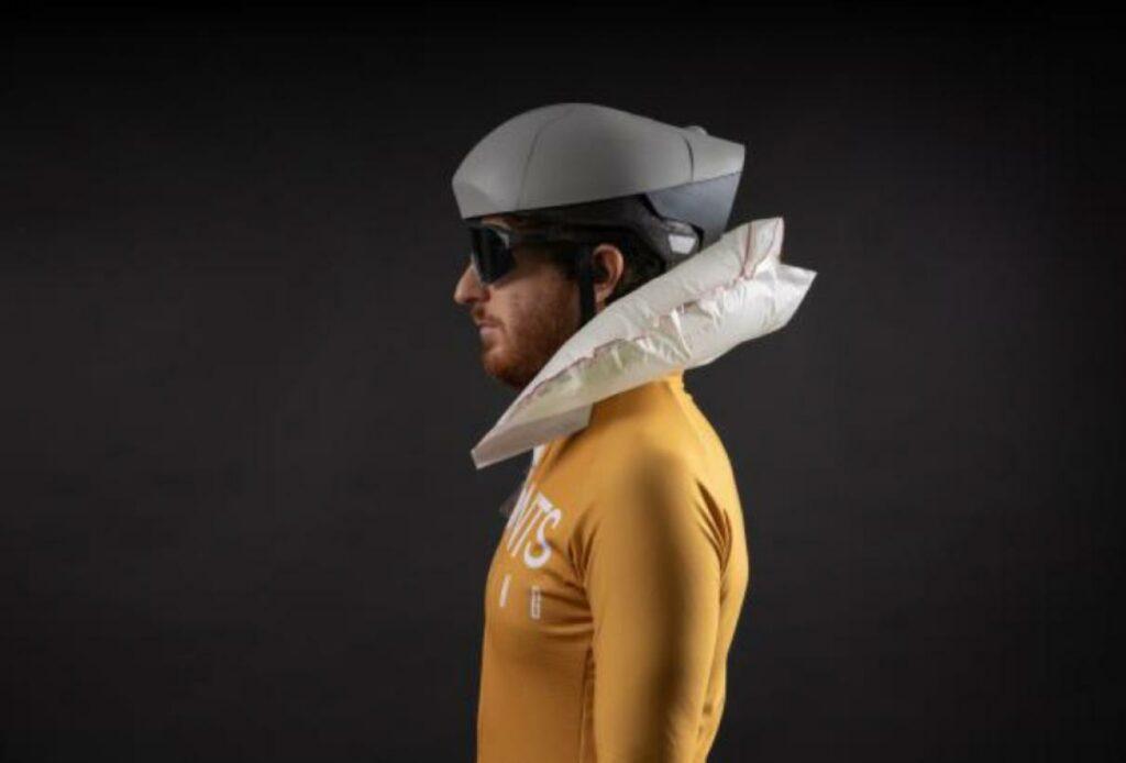 casco bicicleta airbag