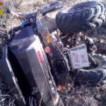 Auxilian a dos personas tras volcar con un quad en un camino de Almonacid de Toledo