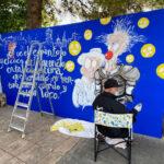 Ingenio y color en las calles de Quintanar de la Orden con la V Exhibición de Grafiti y Arte Urbano