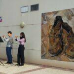 Villacañas se suma a la moda del street art con una exposición de Van Gogh en las calles de la localidad